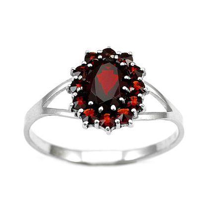 Stříbrný prsten Gio Caratti s granátem BSG280001 velikost 56