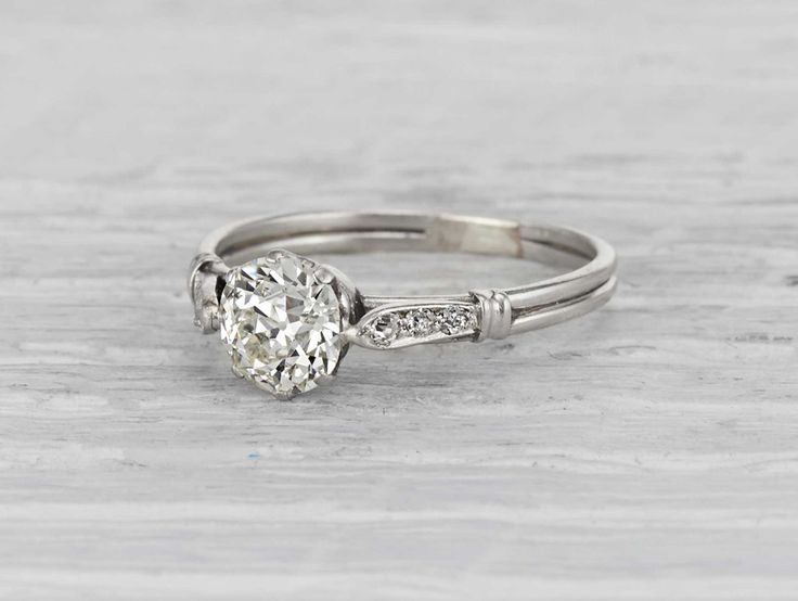 .93 Carat Edwardian Engagement Ring