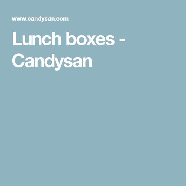 Lunch boxes - Candysan