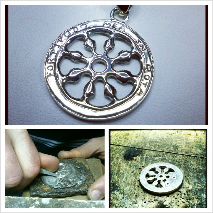 Sterling #silver #pendant #handmade by #PaoloBrunicardi #goldsmith and #jewelrymaker, representing the #Carrara #cityofmarble #coatofarms