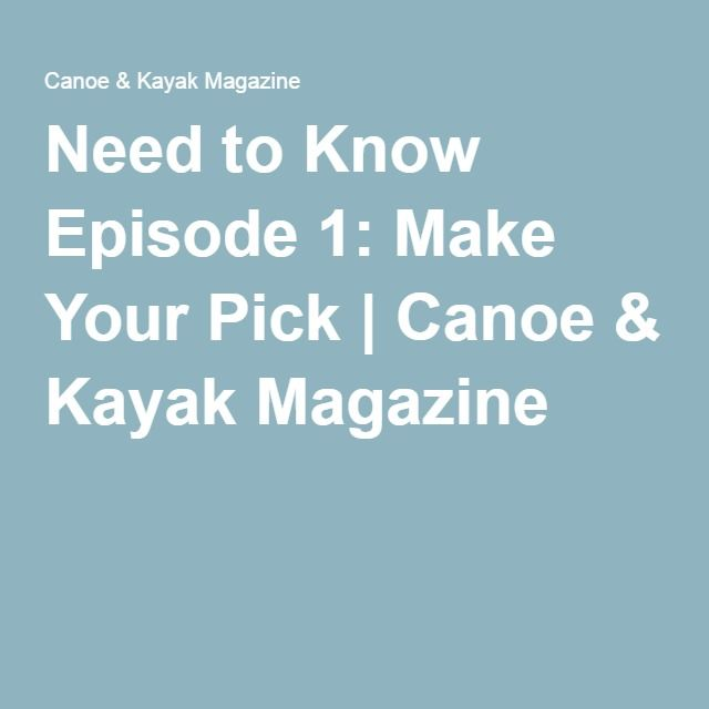 NEW! Pelican has sponsored a new Canoe & Kayak Magazine How-To kayak video series: http://www.canoekayak.com/touring-kayaks/need/… ‪#‎CreateStories‬