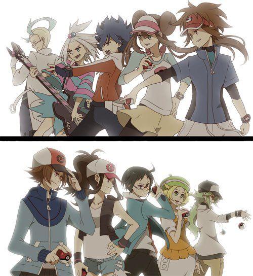 Pokémon BW2: Colress, Roxie, Hugh, Rosa, Nate Pokémon BW: Black/Hilbert, White/Hilda, Cheren, Bianca, N