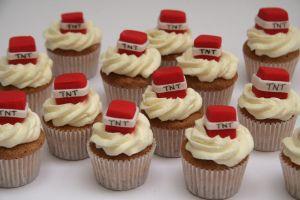 tnt minecraft cupcakes