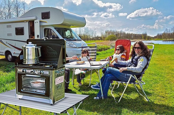 Outdoor Oven Camping Hunting 2-Burner Portable Stove Bake Grill RV Gas Propane  #Stainless