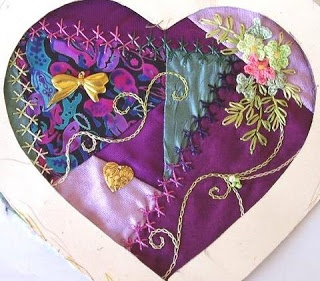 I ❤ embroidery & crazy quilting . . .   Maureen Bond- swapped to Gayle