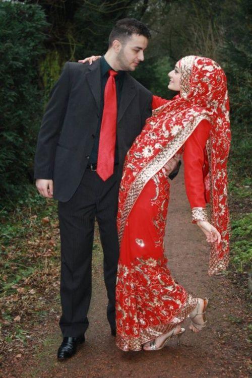 sari with hijab