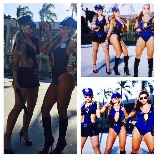 Cacau Colucci, Vanessa Mesquita, Bianca Leão e Valentina Francavilla participaram de um ensaio pelas ruas do Rio de Janeiro, na quinta-feira (5). Nas redes sociais, as gatas compartilharam algumas imagens em que aparecem só de lingerie e também fantasiadas de policiais