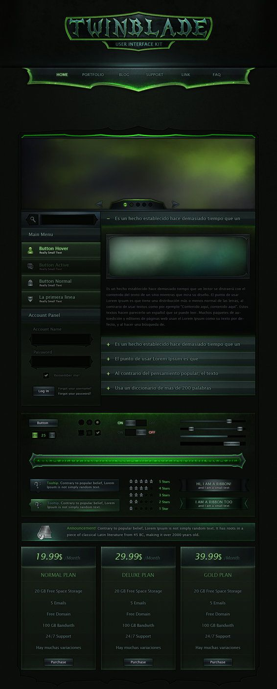 Twinblade UI Kit by VengeanceMK1 on DeviantArt