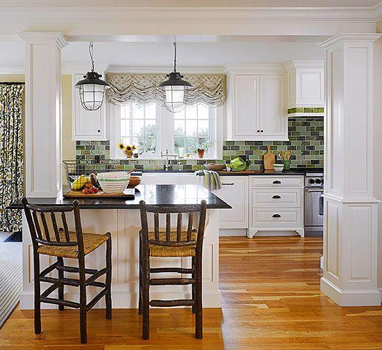 53 Best White Kitchen Designs: 14 Best Kitchen Island/Columns Images On Pinterest