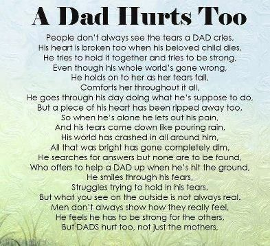 dads who lost their daughter | Colby and Avery's Story: Poem for Dads who have lost a child.....