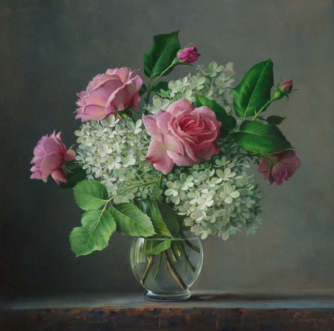 roses with lilacs...Pieter Wagemans