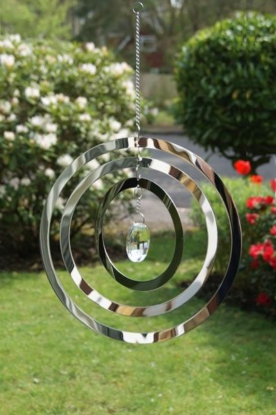 Circles Wind Spinner with Crystal
