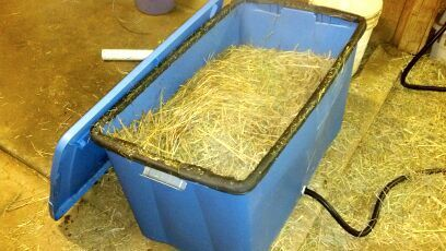 Homemade hay steamer. These instructions could be useful one day.