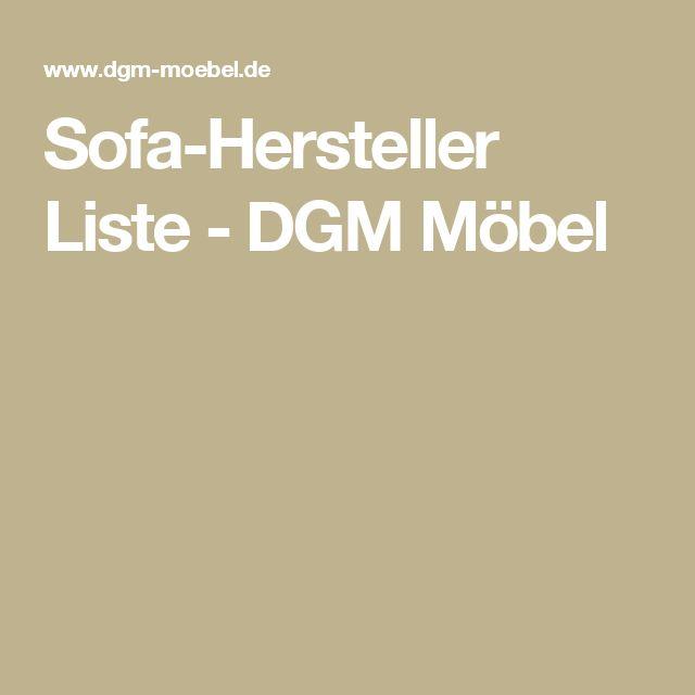 Sofa-Hersteller Liste - DGM Möbel
