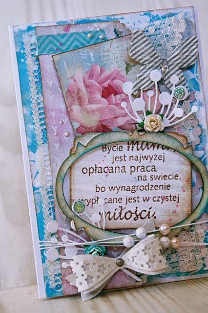 Babskie zachcianki: Pastelowa kartka na Dzień Mamy