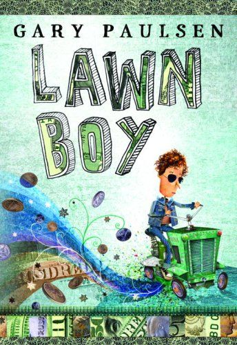 """Each chapter of the book begins with economic terminology, with those concepts then explored through the happenings of the chapter. For instance, in the chapter titled ""The Law of Increasing Product Demand Versus Flat Production Capacity,"" Lawn Boy gets more and more requests for his lawn mowing services but he also realizes that he does not have enough time to mow more than three or four large lawns a day."""