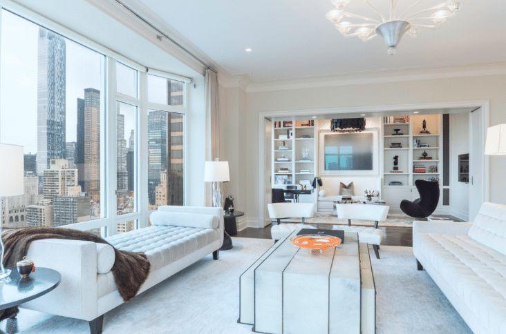 Фото из статьи: Архитектурные экскурсии по Нью-Йорку: интерьер элитной квартиры с видом на Манхэттен и другие вест-сайдские истории