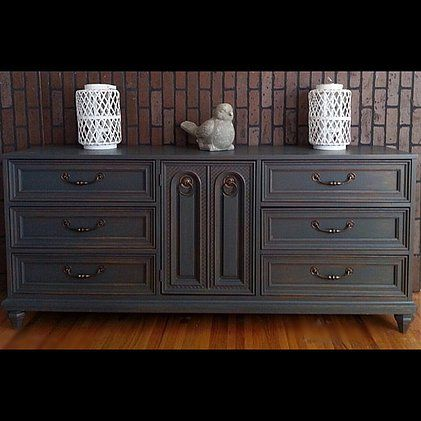 34 best images about painted distressed shabby chic for Navy blue painted furniture