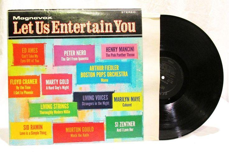 Magnavox Let Us Entertain You LP 33 Vinyl Record 1968 Pop VG RCA Victor  #1960s