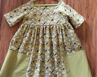 Sally Dress Sewing Pattern Vintage Modern Large Pockets Square