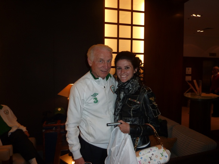 With Giovanni Trapattoni... Great football coach!