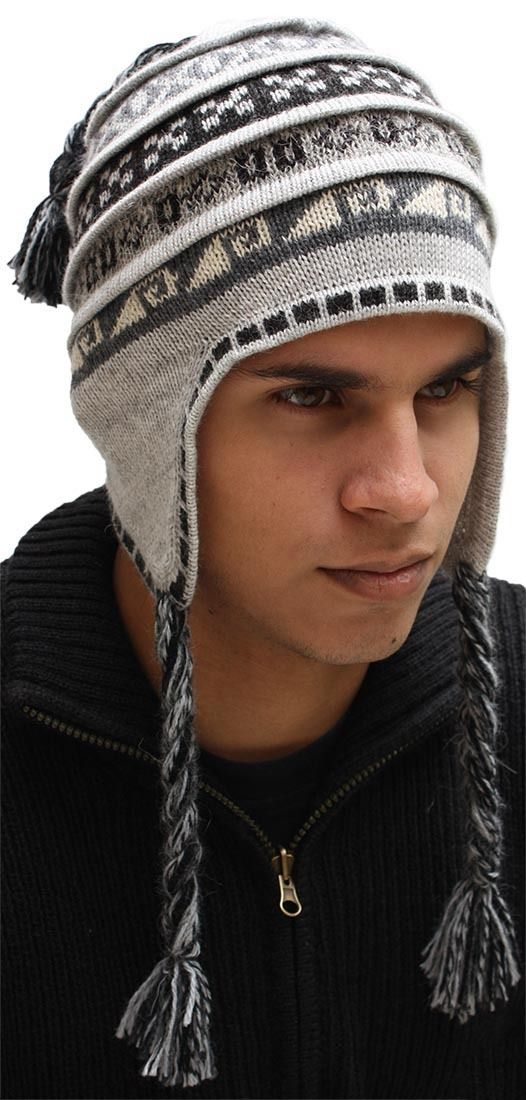 This 100% Alpaca Wool Chullo Hat is a perfect gift for your husband, grandson, son, boyfriend or friend -> Alpaca Warehouse