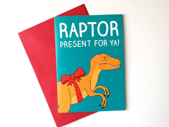 funny dinosaur birthday card raptor birthday card funny