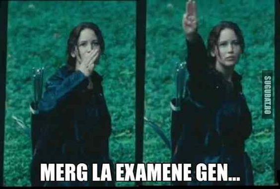 Merg la examene gen...