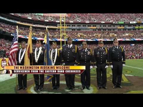 Eastern Band of #Cherokee Veterans Honored by #Redskins at FedExField! #HTTR! #Savethename #keepthename #RedskinsNation