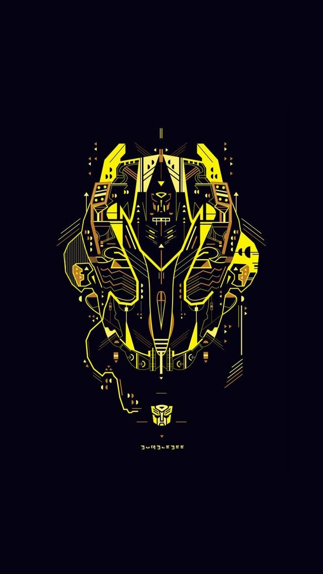 Transformers Bumblebee movie iPhone 5 wallpapers