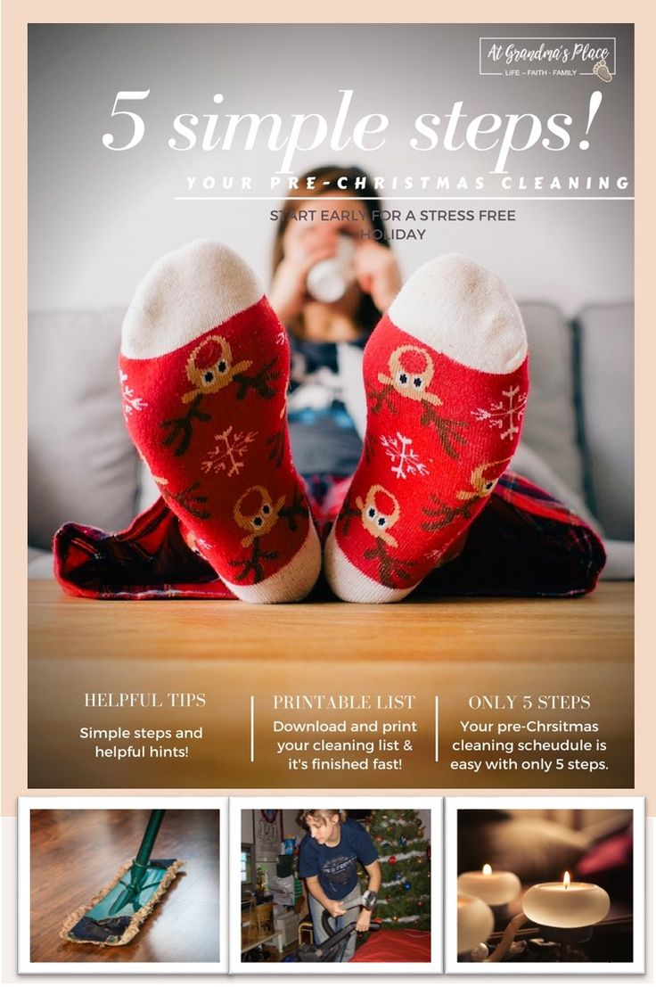 Christmas is the happiest time of the year but it can be exhausting. Escape the stress with this Christmas cleaning schedule and spend and enjoyable Christmas relaxing.