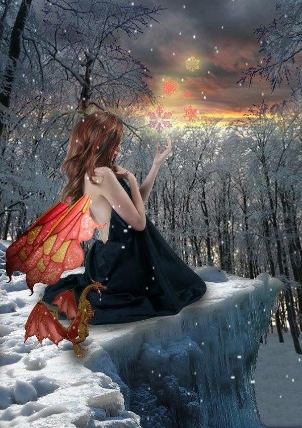 ゚ ∘*. ♡ (With images) Beautiful fairies, Winter fairy
