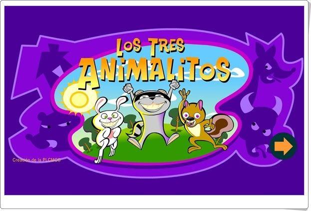 """""""Los tres animalitos"""" es un cuento interactivo que se construye jugando, de manera que el niño interviene en su construcción. Acerca a los niños a los cuentos e incluso ayuda a conocer de forma intuitiva la estructura de la narración."""