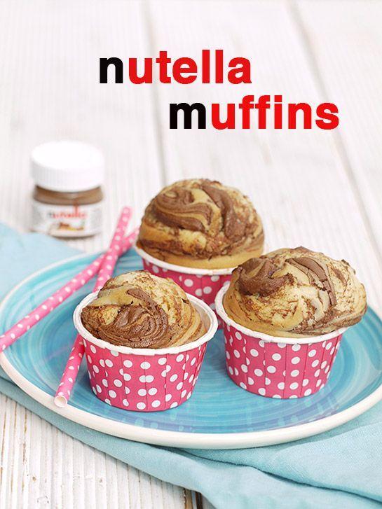 Himmlische Muffins mit Nutella-Wirbel