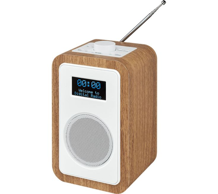 Ideal JVC RA D DAB FM Clock Radio Wood u White White Price DAB radio offers superior digital radio quality for enhanced audio Wake up to your