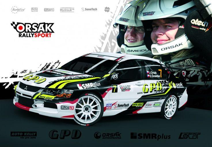 Orsák Rally Sport - J. Orsák (Mitsubishi Lancer Evo IX) - signature card for season 2012.