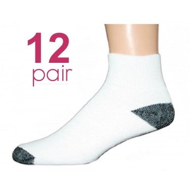 Adult Quarter Sock with Black Heel and Toe We have a great selection of  socks at