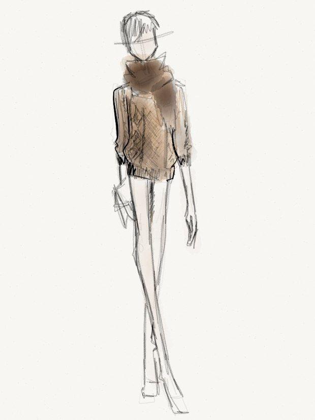 fashion designer cover letter%0A John Jannuzzi u    s Fashion Week Sketchbook   Lucky Magazine