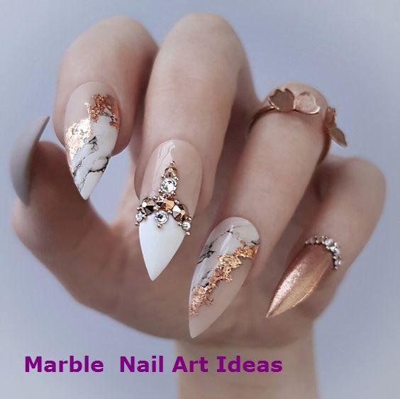 Niedliche Nail Art Designs Ideen für stilvolle Mädchen – Marble Nails for You