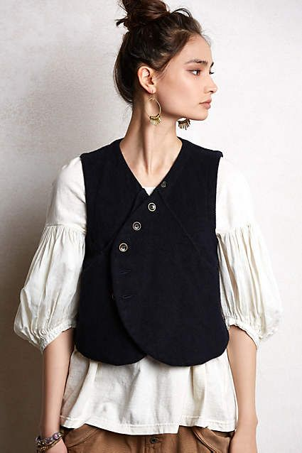 Kapital Melton Vest - anthropologie.com