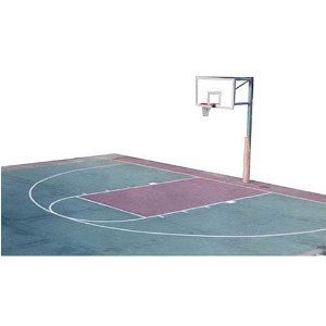"""Train like never before with a real regulation free-throw line and three-point line in your own driveway.  This helps improve your skills and makes your home """"the real deal"""" and the place everyone wants to play."""