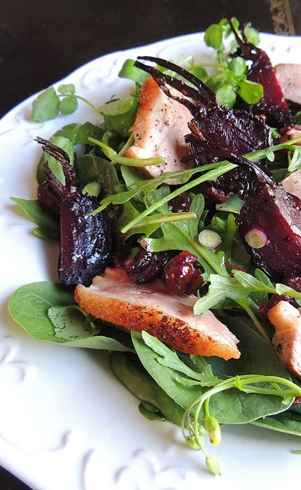 Warm Duck Salad with Crackly-Topped Beetroot