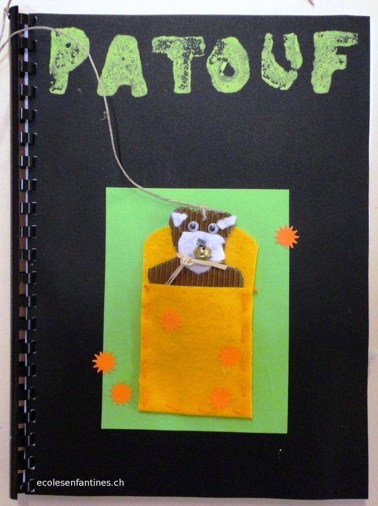 PATOUF, le livre des positions : un projet de fabrication de livre (travail en techno) sur les positions d'un ours sur chaque page (arts pla + lexique+DDM) ça c'est la couverture