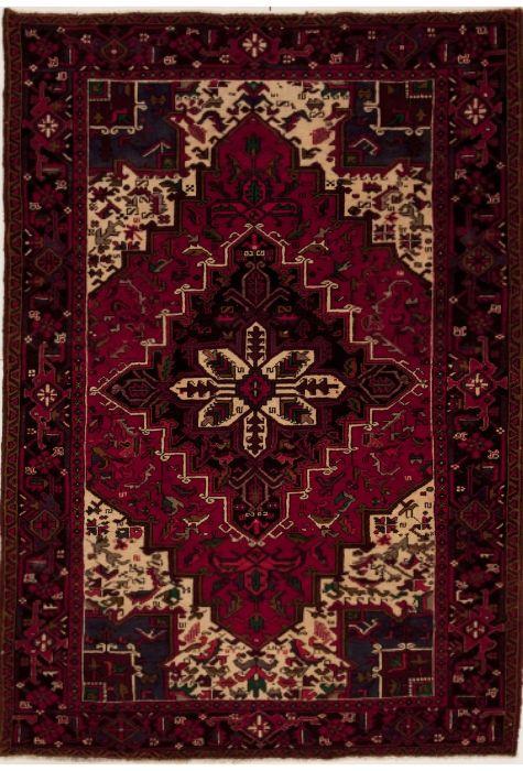 Geravan Persian rug. Wool. Hand Knotted. 206 x 290 http://www.rugman.com/persian-geravan-design-oriental-area-rug-large-size-wool-red-rectangle-251-12476