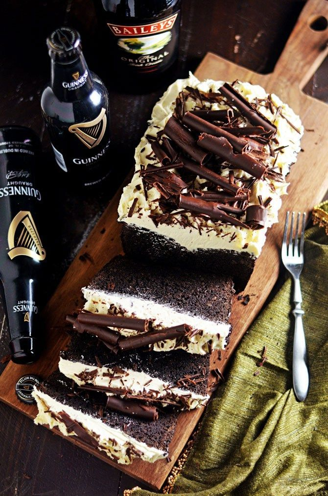 Malted Guinness Chocolate Cake with Baileys Frosting. This rich, dense, malted chocolate cake combines the flavors of Irish stout and dark chocolate for a perfect St. Patrick's Day dessert. The Baileys Irish Cream frosting is easy to make and takes this cake over the top. | hostthetoast.com
