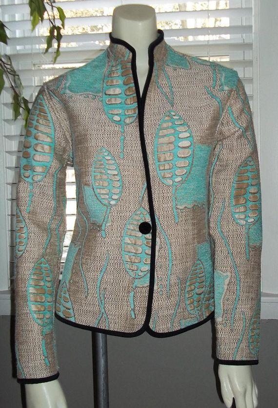 90s Vintage Asian Inspired Jacket Tapestry Reversible / KHANGURA Jacket