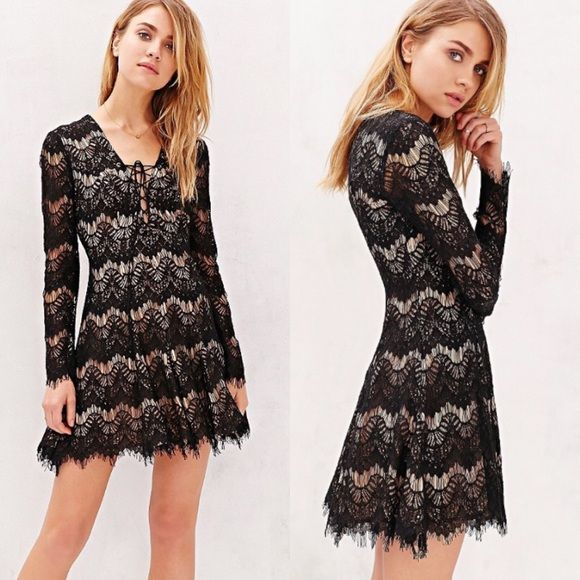Lace dress urban outfitters turntable
