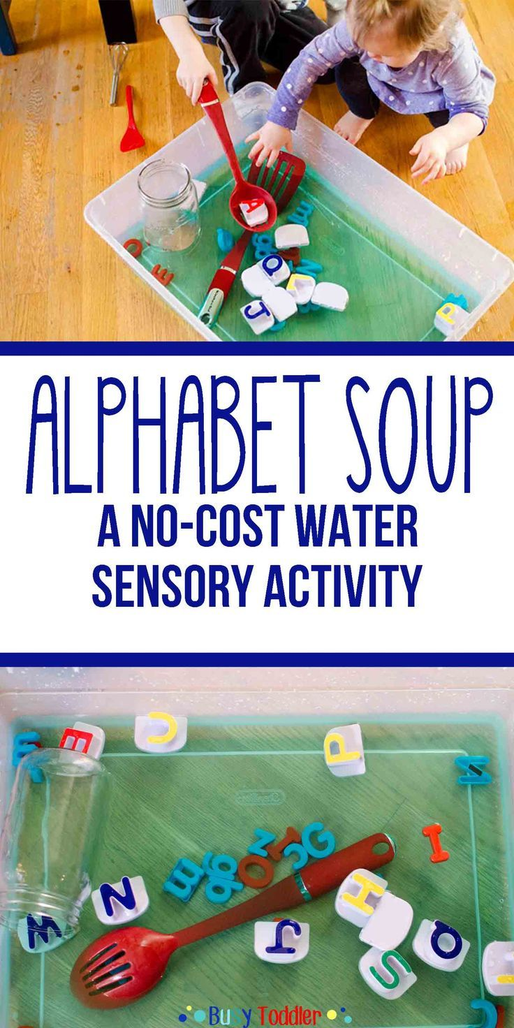 Alphabet Soup: Sensory Water Activity for babies, toddlers, and preschoolers; learn the alphabet with a sensory bin; a literacy and sensory activity