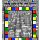 Algebra game.  Welcome to Algetropolis, where players roll the die, move around the game board, and collect the building blocks to make their skyscrapers.