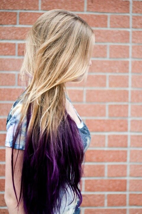 Purple ombre hair except the blonde is going to be black!!(:♡♥ | I ...